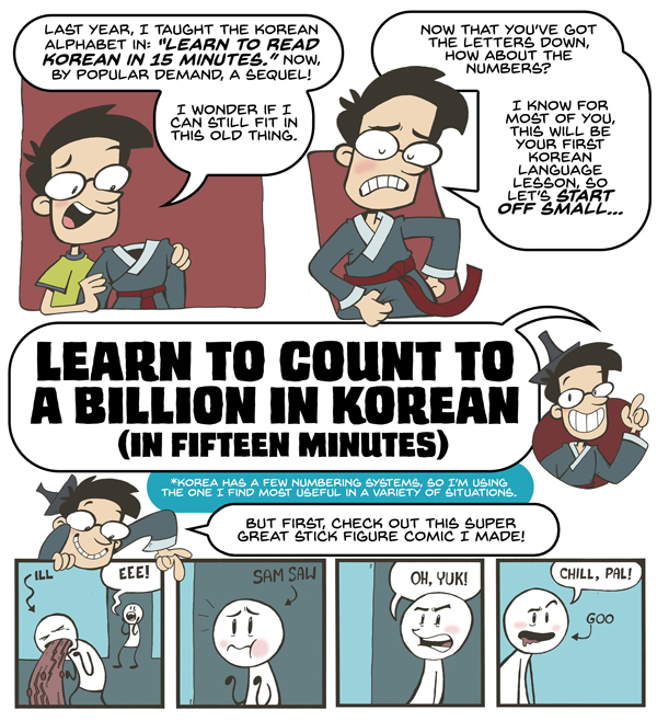 Learn To Count to a Billion in Korean in 15 Minutes
